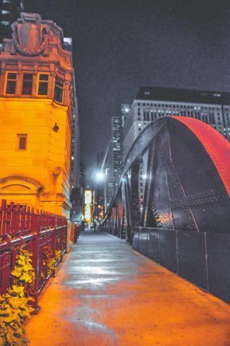 Chicago-bei-Nacht