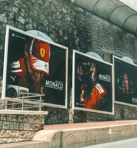 Formel 1 Plakate in Monaco