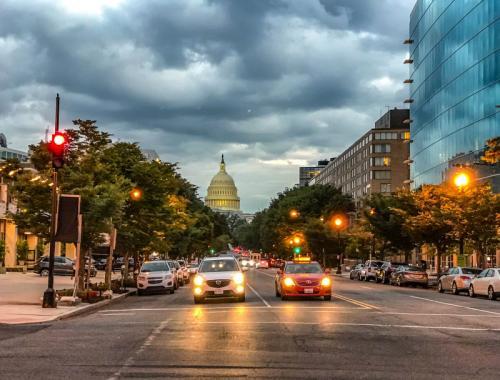 In den Straßen von Washington DC