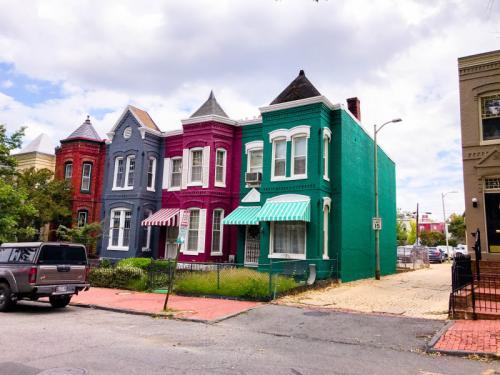 die hübschen Häuser von Washington DC